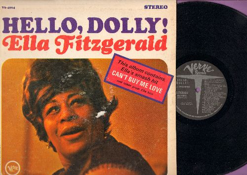 Fitzgerald, Ella - Hello, Dolly!: Can't Buy Me Love, People, Miss Otis Regrets, Volare, The Thrill Is Gone (Vinyl STEREO LP record) - NM9/VG7 - LP Records