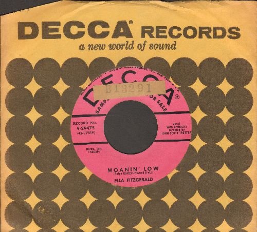 Fitzgerald, Ella - Moanin' Low/Taking A Chance On Love (DJ advance pressing with vintage Decca company sleeve) (sol) - EX8/ - 45 rpm Records
