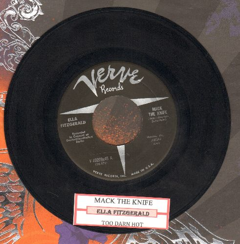Fitzgerald, Ella - Too Darn Hot/Mack The Knife (with juke box label) - EX8/ - 45 rpm Records