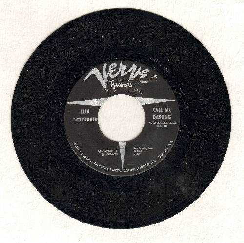 Fitzgerald, Ella - What Is This Thing Called Love/Call Me Darling - EX8/ - 45 rpm Records
