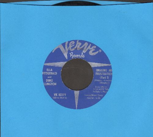 Fitzgerlad, Ella & Duke Ellington - Imagine My Frustration (Parts 1 + 2) (blue label) - NM9/ - 45 rpm Records