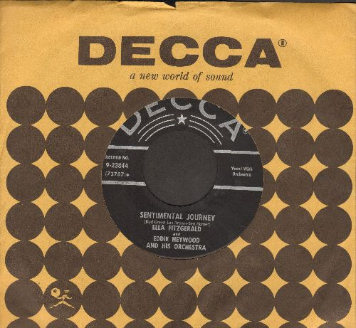 Fitzgerald, Ella - Sentimental Journey/Guilty (with vintage Decca company sleeve) - VG7/ - 45 rpm Records
