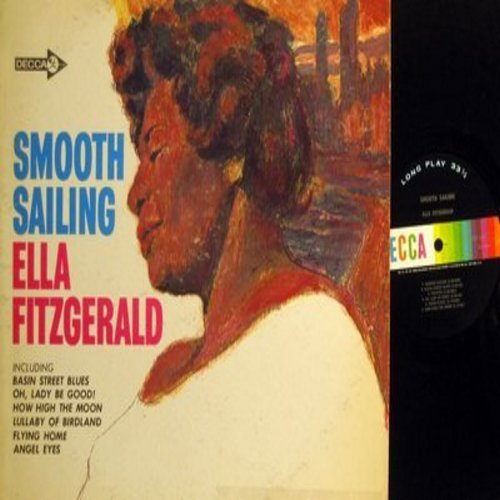 Fitzgerald, Ella - Smooth Sailing: How High The Moon, Lullaby Of Birdland, Flying Home, Ella Hums The Blues, Basin Street Blues (Vinyl MONO LP record) - NM9/EX8 - LP Records
