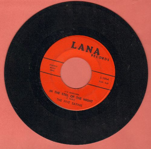 Five Satins - In The Still Of The Night/The Jones Girl (early re-issue) - VG7/ - 45 rpm Records