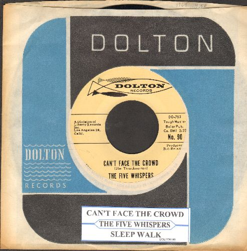 Five Whispers - Sleep Walk/Can't Face The Crowd (with juke box label and company sleeve) - NM9/ - 45 rpm Records
