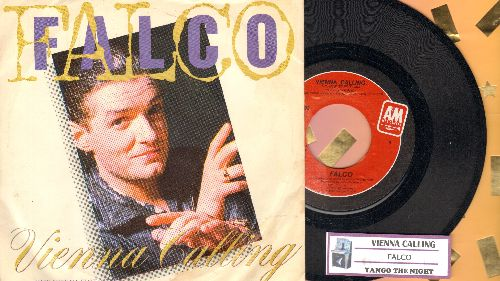 Falco - Vienna Calling/Tango The Night (with juke box label and picture sleeve) - NM9/EX8 - 45 rpm Records