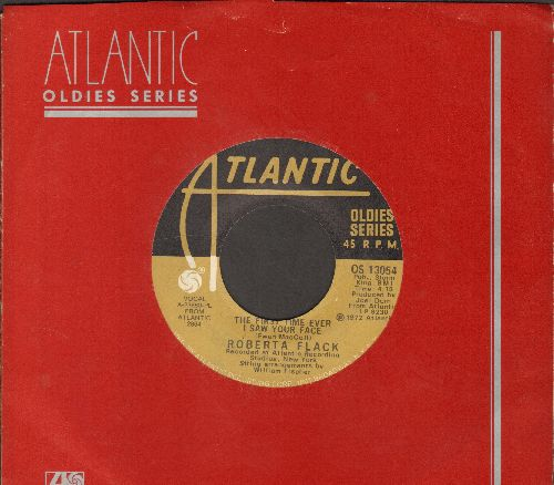 Flack, Roberta - The First Time Ever I Saw Your Face/Will You Love Me Tomorrow (double-hit re-issue with Atlantic company sleeve) - NM9/ - 45 rpm Records