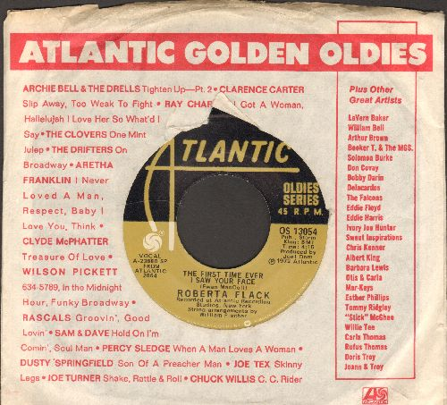 Flack, Roberta - The First Time Ever I Saw Your Face/Will You Love Me Tomorrow (double-hit re-issue with Atlantic company sleeve) - VG7/ - 45 rpm Records