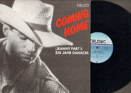 Falco - Coming Home (Jeanny Part 2, Ein Jahr Danach)/Crime Time (12 inch vinyl Maxi Single with picture cover, German Pressing) - NM9/NM9 - Maxi Singles