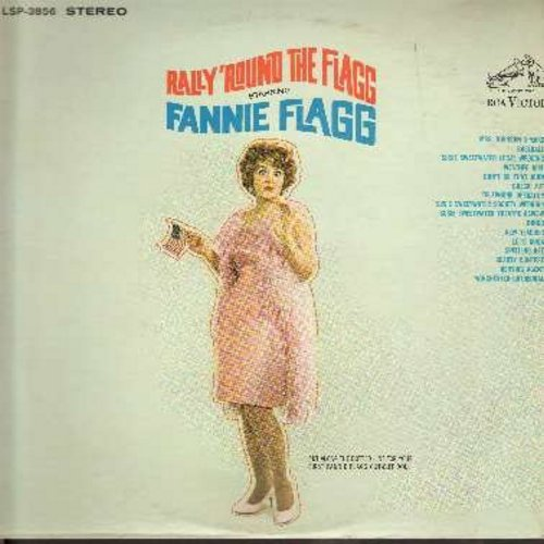 Flagg, Fannie - Rally 'Round The Flagg - Hilarious observational humor with Candit Camera's Favorite Disguised Comedienne (Vinyl STEREO LP record) - EX8/VG7 - LP Records