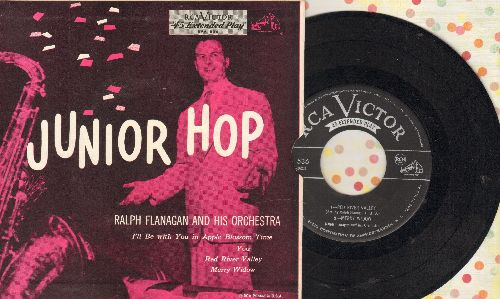 Flanagan, Ralph, Vaughn Monroe, Freddy Martin, George Malachrino - Junior Hop: I'll Be With You In Apple Blossom Time/You/Red River Valley/Merry Widow (Vinyl EP record with picture cover) - NM9/EX8 - 45 rpm Records
