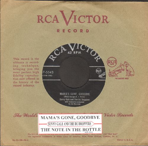 Gale, Sunny - Mama's Gone, Goodbye/The Note In The Bottle (with juke box label and vintage RCA company sleeve) - EX8/ - 45 rpm Records