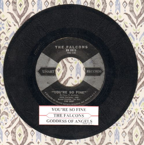 Falcons - You're So Fine/Goddess Of Angels (with juke box label) - VG7/ - 45 rpm Records