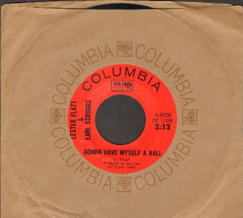Flatt & Scruggs - Gonna Have Myself A Ball/Rock Salt Nails (with vintage Columbia company sleeve) - EX8/ - 45 rpm Records