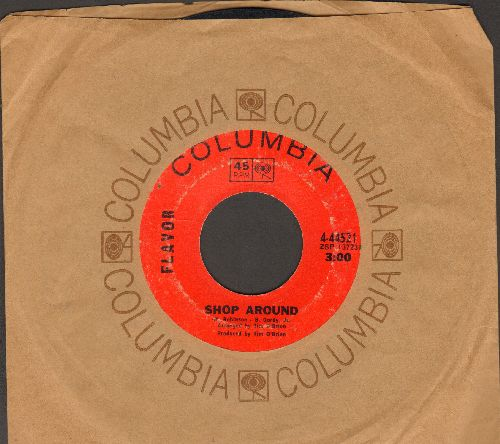 Flavor - Shop Around/Sally Had A Party (with Columbia company sleeve) - VG7/ - 45 rpm Records