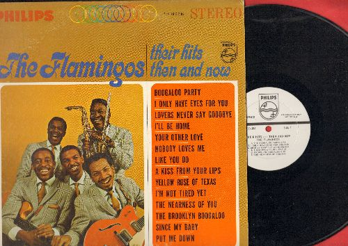 Flamingos - Their Hits Then And Now: I Only Have Eyes For You, A Kiss From Your Lips, The Brooklyn Boogaloo, I'll Be Home (vinyl STEREO LP record, DJ advancve pressing) - NM9/EX8 - LP Records