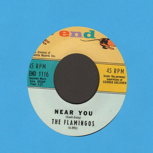 Flamingos - Near You/For All We Know  - EX8/ - 45 rpm Records