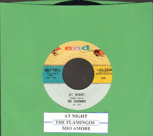Flamingos - Mio Amore/At Night (with juke box label) - NM9/ - 45 rpm Records