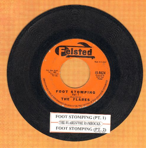 Flares - Foot Stomping Part 1/Foot Somping Part 2 (by The Ramrocks) (with juke box label) - VG7/ - 45 rpm Records