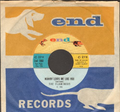 Flamingos - Nobody Loves Me Like You/You Me And The Sea (with RARE End company sleeve) (minor wos) - NM9/ - 45 rpm Records