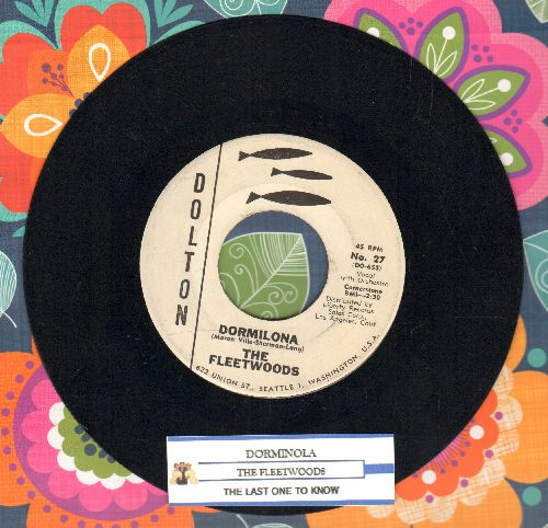 Fleetwoods - Dormilona/The Last One To Know (DJ advance pressing with juke box label) - EX8/ - 45 rpm Records