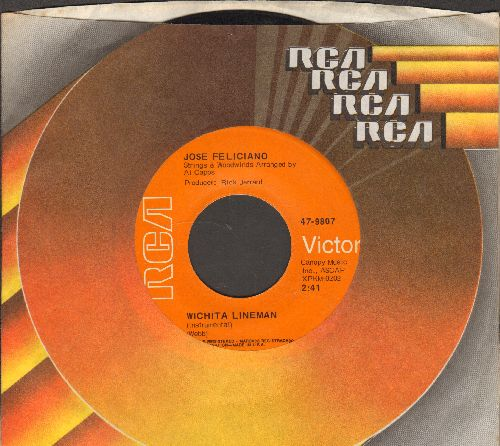 Feliciano, Jose - Witcheta Lineman/Point Of View (with RCA company sleeve) - NM9/ - 45 rpm Records