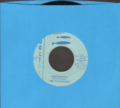 Fleetwoods - Confidental/I Love You So - NM9/ - 45 rpm Records