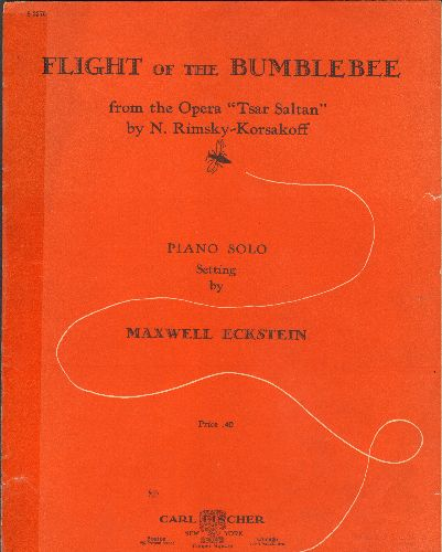 Rimsky-Korsakoff - Flight Of The Bumblebee - Vintage SHEET MUSIC for the Rimsky-Korsakoff Opera -Tsar Sultan- (clear tape on left) - VG7/ - Sheet Music