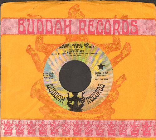 Flint-Niks - Yaba Daba Do (Honey I Love You)/The Flint-Nik Rock (with vintage Buddah company sleeve) - EX8/ - 45 rpm Records