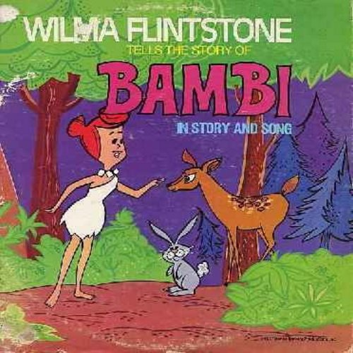 Flintstone, Wilma - Wilma Flintstone Tells the story of -Bambi- (Vinyl STEREO LP record, 1977 first issue) - NM9/VG6 - LP Records