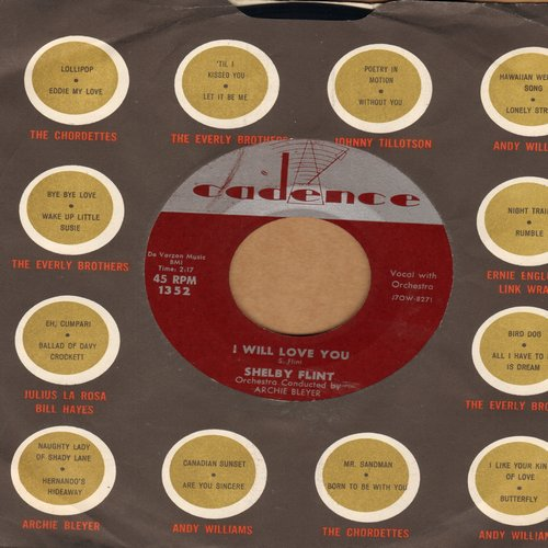 Flint, Shelby - I Will Love You/Every Night - VG7/ - 45 rpm Records