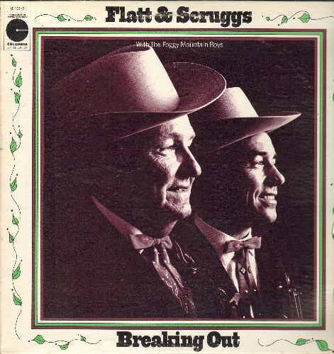 Flatt & Scruggs - Breaking Out: Foggy Mountain Rock, Mama Don't Allow It, Handsome Molly, Iron Curtin (Vinyl STEREO LP record, re-issue of vintage recordings) - NM9/EX8 - LP Records