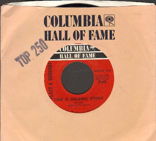Flatt & Scruggs - Like A Rolling Stone/Foggy Mountain Breakdown (double-hit re-issue with Columbia company sleeve) - M10/ - 45 rpm Records