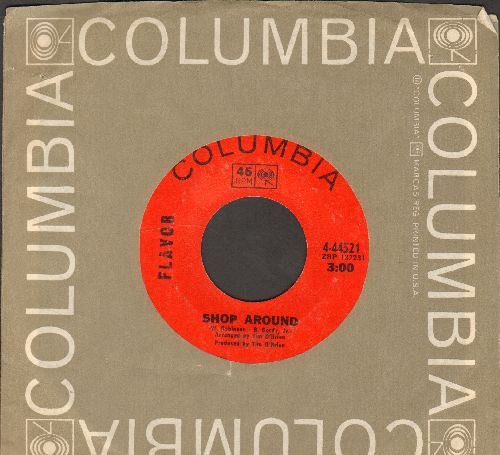 Flavor - Shop Around/Sally Had A Party (with Columbia company sleeve) - EX8/ - 45 rpm Records