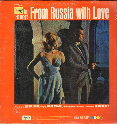 From Russia With Love - From Russia With Love - Original Motion Picture Sound Track featuring score by John Barry and title song by Matt Monro (Vinyl MONO LP record, SEALED, never opened!) - SEALED/SEALED - LP Records