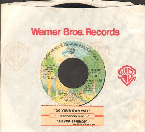 Fleetwood Mac - Go Your Own Way/Silver Springs (with juke box label and Warner Brothers company sleeve) - EX8/ - 45 rpm Records