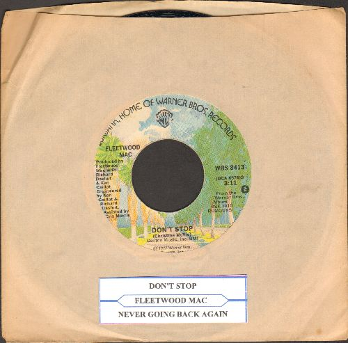 Fleetwood Mac - Don't Stop/Never Going Back Again (with Warner Brothers company sleeve and juke box label) - EX8/ - 45 rpm Records