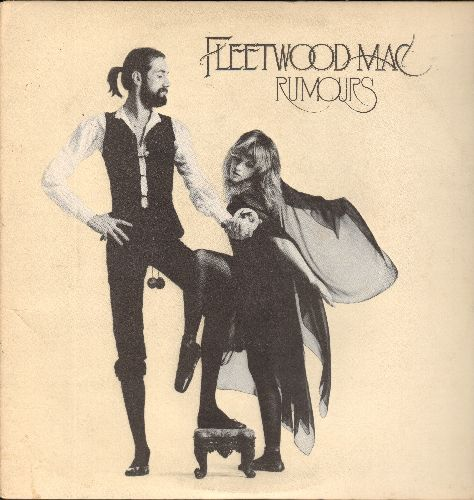 Fleetwood Mac - Rumors: Don't Stop, Gold Dust Woman, The Chain, Dreams, Songbird (vinyl LP record), with Song Lyrics on folded card-board) - NM9/EX8 - LP Records