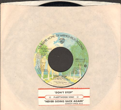 Fleetwood Mac - Don't Stop (Thinking About Tomorrow)/Never Going Back Again (with juke box label and Warner Brothers company sleeve) - NM9/ - 45 rpm Records