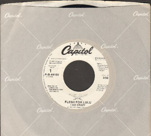 Flesh For Lulu - I Go Crazy (double-A-sided DJ advance pressing with Capitol company sleeve) - NM9/ - 45 rpm Records
