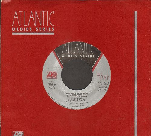 Flack, Roberta - The First Time Ever I Saw Your Face/Will You Love Me Tomorrow (double-hit re-issue with Atlantic company sleeve) - EX8/ - 45 rpm Records