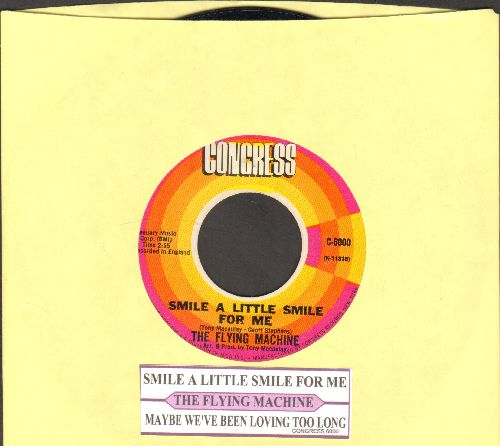 Flying Machine - Smile a Little Smile For Me (Rosemarie)/Maybe We've Been Loving Too Long (with juke box label) - NM9/ - 45 rpm Records
