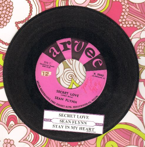 Flynn, Sean - Secret Love/Stay In My Heart (with juke box label) - VG7/ - 45 rpm Records