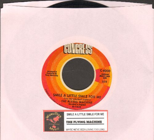 Flying Machine - Smile a Little Smile For Me (Rosemarie)/Maybe We've Been Loving Too Long (with juke box label) - VG7/ - 45 rpm Records