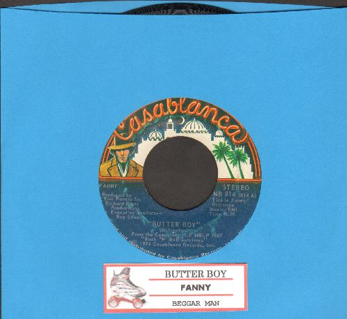 Fanny - Butter Boy/Beggar Man (with juke box label) - EX8/ - 45 rpm Records
