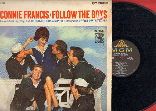 Francis, Connie - Follow The Boys - Connie Francis Sings Songs From The Original Motion Picture Sound Track (Vinyl STEREO LP record) - EX8/VG6 - LP Records