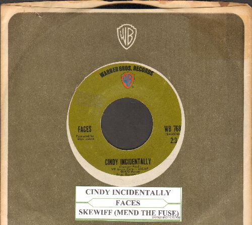 Faces - Cindy Incidentally/Skewiff (Mend The Fuse) (with juke box label and company sleeve) - NM9/ - 45 rpm Records