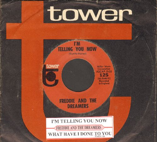 Freddie & The Dreamers - I'm Telling You Now/What Have I Done To You (NICE condition with juke box label and RARE Tower company sleeve) - NM9/ - 45 rpm Records