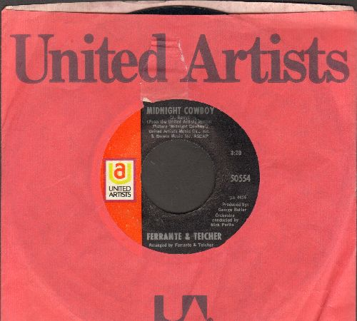 Ferrante & Teicher - Midnight Cowboy/Rock-A-Bye Baby (with United Artists company sleeve) - NM9/ - 45 rpm Records