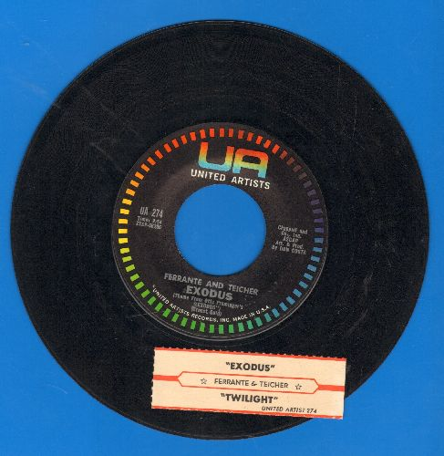 Ferrante & Teicher - Exodus/Twilight (with juke box label) - NM9/ - 45 rpm Records